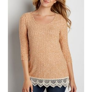 Maurices lace trim tunic